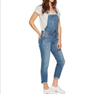 Levi's High Waisted Denim Overalls Distressed